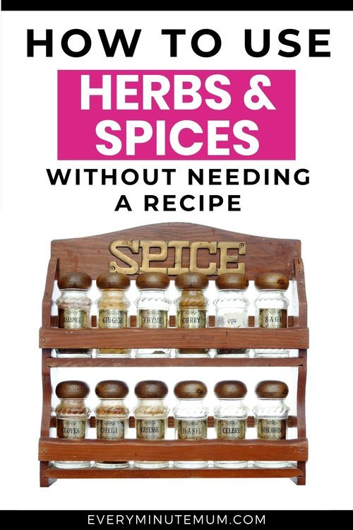 Well stocked spice rack