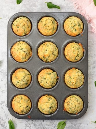 Cheddar spinach muffins for kids