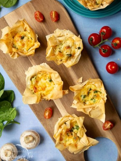 Kids will love cooking mini quiches
