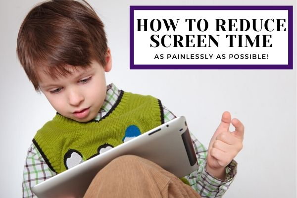 Boy enjoying screen time on tablet