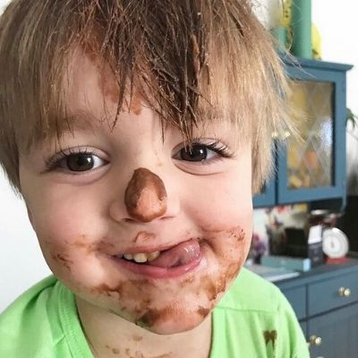 Baking with a toddler