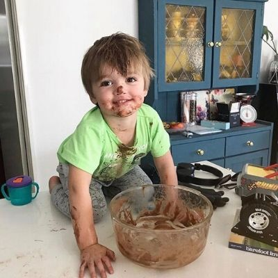 Cooking with kids can be messy