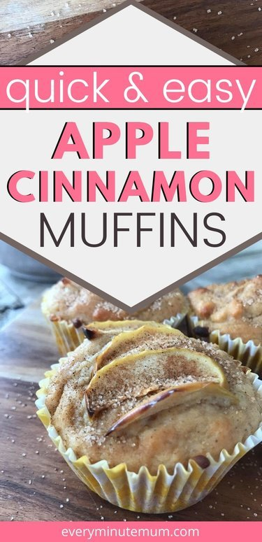 Apple cinnamon muffin on a table