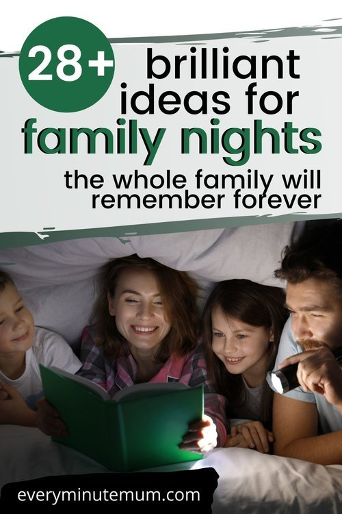 Family night fun under a blanket fort