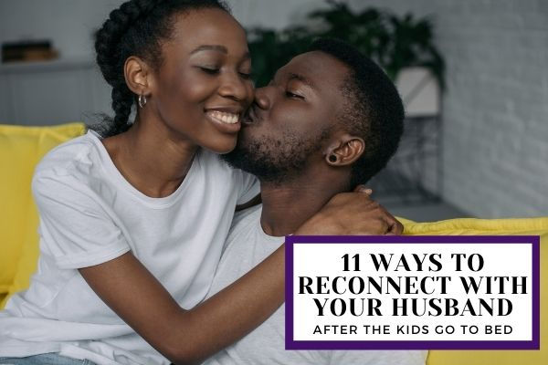 Husband and wife reconnecting with each other